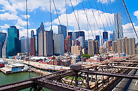 View of Manhattan from the Brooklyn bridge