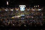 The University of Michigan men's basketball team beat Michigan State, 58-57, at Crisler Center in Ann Arbor, Mich., on March 3, 2013.