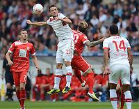 FUSSBALL   1. BUNDESLIGA  SAISON 2012/2013   3. Spieltag  15.09.2012 VfB Stuttgart - Fortuna Duesseldorf     Christian Gentner (li, VfB Stuttgart) gegen Andrey Voronin (Duesseldorf)