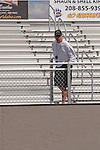 Idaho Falls coach Alan McMurtrey at the YMCA Track and Field Invite on April 28, 2012 at Rocky Mountain High School, Meridian, Idaho.