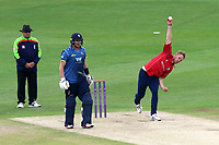Jamie Porter in bowling action for Essex during Kent Spitfires vs Essex Eagles, Royal London One-Day Cup Cricket at the St Lawrence Ground on 17th May 2017