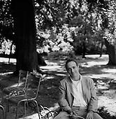 "Paris, France.August  2001..David Sedaris.Best Selling Author - NPR Humorist..""Playwright, author, radio star, and retired elf David Sedaris may be the most brilliantly witty New Yorker since Dorothy Parker."".---.New York Magazine."