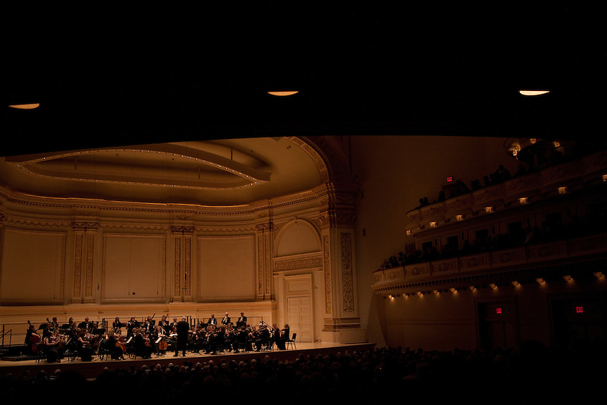Sir John Eliot Gardiner conducts Orchestre Revolutionnaire et Romantique performing Ludwig Van Beethoven Symphony No. 7 in A Major at the Isaac Stern Auditorium at Carnegie Hall in Manhattan, NY on November 16, 2011.