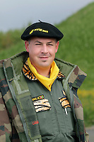 French crew member of a Dassault Rafale fighter jet squadron. Nato Tiger Meet is an annual gathering of squadrons using the tiger as their mascot. While originally mostly a social event it is now a full military exercise. Tiger Meet 2012 was held at the Norwegian air base Ørlandet.