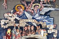 Frescos by Vilmos Aba-Novák (1937). Hero Gate First  World War Memorial  - Szeged, Hungary