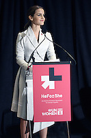 Emma Watson attends the UN Women's HeForShe Campaign - New York