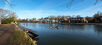 BNPS.co.uk (01202 558833)<br /> Pic: PhilYeomans/BNPS<br /> <br /> Each Oxford College rowing clubs now has their own buildings.<br /> <br /> 'Old man river, he just keeps rollin' - A remarkable collection of panoramic photographs of the Thames taken 160 years ago have emerged for auction, and they reveal how little the famous old river has changed in the last century and a half.<br /> <br /> They follow the river from London to Oxford in 40 photographs providing a fascinating insight into how the famous river looked in the mid-19th century.<br /> <br /> Londoner Victor Prout started photographing the Thames in 1857 using a camera which would produce wide-vision images because of a lens that swung round and 'scanned' sections of the picture.<br /> <br /> This rare complete copy of the first edition of Prout's pioneering panoramics has emerged for auction and is tipped to sell for &pound;12,000 when they go under the hammer at Bonhams on March 1.