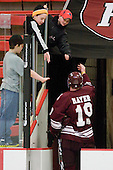 Austin Mayer (Colgate - 19) - The Harvard University Crimson defeated the visiting Colgate University Raiders 6-2 (2 EN) on Friday, January 28, 2011, at Bright Hockey Center in Cambridge, Massachusetts.