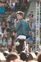 05/12/12 Carson, CA :  Justin Bieber during KISS FM's Wango Tango concert held at the Home Depot Center