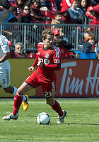 30 March 2013: Toronto FC midfielder Terry Dunfield #23 in action during an MLS game between the LA Galaxy and Toronto FC at BMO Field in Toronto, Ontario Canada..The game ended in a 2-2 draw..