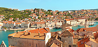 Rooftop view of  Trogir Croatia