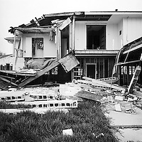 Damaged home in East New Orleans,  six months post Hurricane Katrina