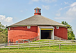 Round barn at the Shelburne Museum, Shelburne, Vermont