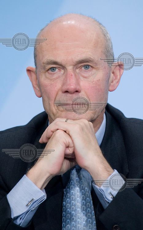 Pascal Lamy, Director-General of the World Trade Organisation (WTO), at the Chancellery in Berlin.