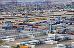 The APM Terminal container yard at the Port of Rotterdam, on Tuesday Oct. 27, 2009, in Rotterdam, the Netherlands. (Photo © Jock Fistick)