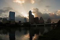 Austin Skyline at Early Morning Sunrise