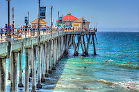 Huntington Beach, CA, Pier, Ocean Waves, Dramatic, California