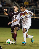 The Winthrop University Eagles played the College of Charleston Cougars at Eagles Field in Rock Hill, SC.  College of Charleston broke the 1-1 tie with a goal in the 88th minute to win 2-1.  C.J. Miller (5), Daan Brinkman (4)
