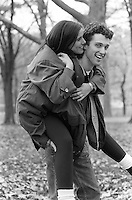 Piggyback ride in Central Park