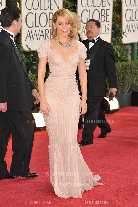 Elizabeth Banks at the 66th Annual Golden Globe Awards at the Beverly Hilton Hotel..January 11, 2009 Beverly Hills, CA.Picture: Paul Smith / Featureflash