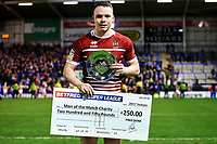 Picture by Alex Whitehead/SWpix.com - 09/03/2017 - Rugby League - Betfred Super League - Warrington Wolves v Wigan Warriors - Halliwell Jones Stadium, Warrington, England - Wigan's Liam Marshall is awarded the man of the match.
