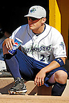 30 June 2007: Vermont Lake Monsters outfielder Jake Dugger awaits his turn in the batting cage prior to a game against the Lowell Spinners at Historic Centennial Field in Burlington, Vermont. The Spinners defeated the Lake Monsters 8-4 in the last game of their 3-game, NY Penn-League series...Mandatory Photo Credit: Ed Wolfstein Photo