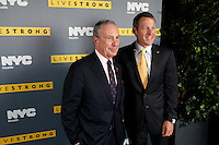 Lance Armstrong presents the documentary Delivering Hope: Cancer Care in the.Developing World to guests including Mayor Bloomberg, Dr. Thomas Farley, NYC Commissioner for Health and Mental Hygiene, Their Royal Highnesses of the Hashemite Kingdom of Jordan, Princess Dina Mired and Princess Ghida Talal at a reception at Gracie Mansion in Manhattan, New York on September 19, 2011.