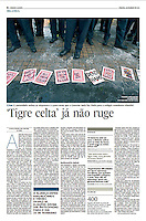 Tearsheet of &quot;Irlanda: 'Tigre Celta' ja nao ruge&quot; published in Expresso
