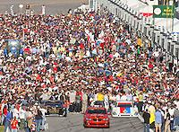 A crowded grid before the Rolex 24 at Daytona , Daytona International Speedway, Daytona Beach, FL, January 2009.  )Photo by Brian Cleary)