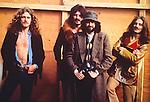 Led Zeppelin 1970 Robert Plant, John Bonham, Jimmy Page and John Paul Jones at Bath Festival.© Chris Walter.