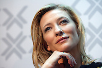 MELBOURNE, AUSTRALIA - SEPTEMBER 17:  Actress Cate Blanchett at the 'Screen Worlds' exhibition opening at Federation Square on September 17, 2009 in Melbourne, Australia.  (Photo by Hannah Mason/WireImage) *** Local Caption *** Cate Blanchett