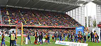 20170415 - LENS , FRANCE : pictured during the soccer match between Racing Club de LENS and AJ Auxerre , on the thirty third matchday in the French Dominos pizza Ligue 2 at the Stade Bollaert Delelis stadium , Lens . Saturday 15 April 2017 . PHOTO DIRK VUYLSTEKE | SPORTPIX.BE