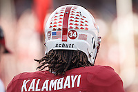 Stanford, CA - November 5, 2016: Peter Kalambayi during  the Stanford vs Oregon State game at Stanford Stadium Saturday. <br /> <br /> Stanford won 26-15.