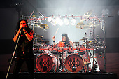 DREAM THEATER - James LaBrie and Mike Mangini - performing live at the Eventim Apollo in Hammersmith London UK - 23 Apr 2017.  Photo credit: Zaine Lewis/IconicPix
