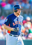 4 March 2016: Houston Astros infielder A.J. Reed returns to the dugout during a Spring Training pre-season game against the St. Louis Cardinals at Osceola County Stadium in Kissimmee, Florida. The Astros defeated the Cardinals 6-3 in Grapefruit League play. Mandatory Credit: Ed Wolfstein Photo *** RAW (NEF) Image File Available ***