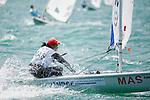 MalaysiaLaser RadialWomenHelmMASNM6Nur ShazrinMohamad Latif<br /> Day3, 2015 Youth Sailing World Championships,<br /> Langkawi, Malaysia