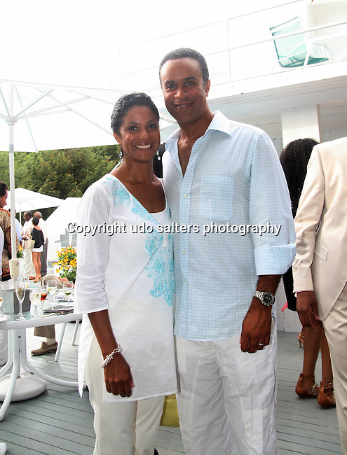 """Andrea and Maurice Duboise attend the 7th Annual """"On Our Toes In The Hamptons"""" fundraiser at a Private Location, Water Mill, New York 8/21/10"""