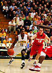21 January 2010: University of Vermont Catamount guard Simeon Marsalis, a Freshman from New Rochelle, NY, in action during a game against the Stony Brook University Seawolves at Patrick Gymnasium in Burlington, Vermont. The Catamounts fell to the Seawolves 65-60 in the America East matchup. Mandatory Credit: Ed Wolfstein Photo