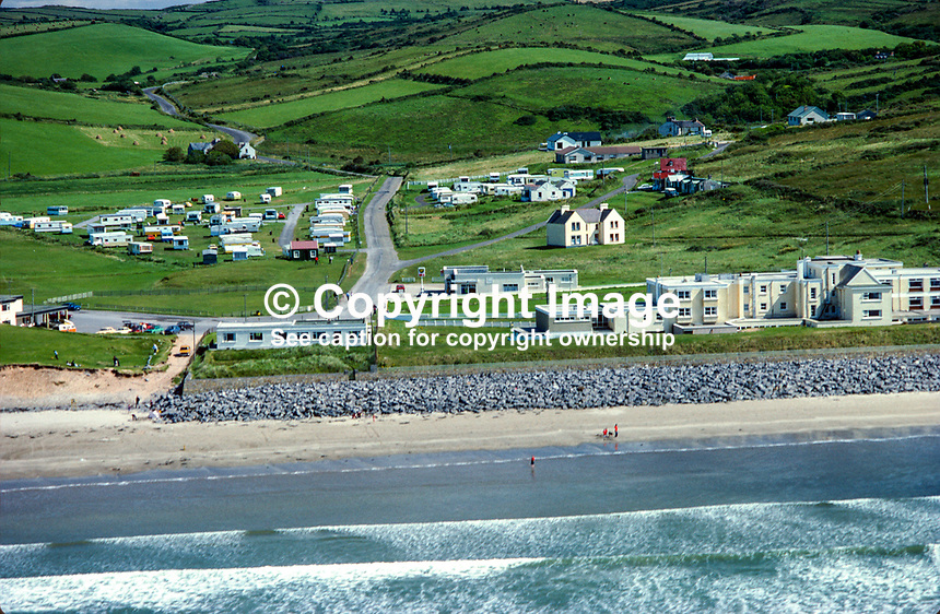 Aerial photograph, Rossnowlagh, Ballyshannon, Co Donegal, Rep of Ireland. 19790160b..Copyright Image from Victor Patterson, 54 Dorchester Park, Belfast, UK, BT9 6RJ..Tel: +44 28 9066 1296.Mob: +44 7802 353836.Voicemail +44 20 8816 7153.Skype: victorpattersonbelfast.Email: victorpatterson@me.com.Email: victorpatterson@ireland.com (back-up)..IMPORTANT: If you wish to use this image or any other of my images please go to www.victorpatterson.com and click on the Terms & Conditions. Then contact me by email or phone with the reference number(s) of the image(s) concerned.