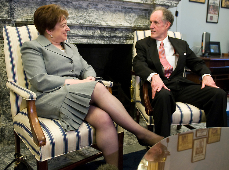U.S. Solicitor General Elena Kagan, nominee for the U.S. Supreme Court, meets with Sen. Ted Kaufman, D-Del., in the Russell Senate Office Building on Wednesday, May 19, 2010.