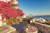 A house with water well in the traditional village of Plaka in Milos, Greece