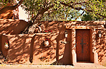 Adobe house in Santa Fe, New Mexico