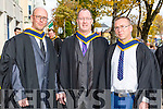 Bachelor of Science, Pharmaceutical Analysis with Environmental Science Maurice O'Connor, Paudie McElligott and Tommy Higgins at the Institute of Technology Tralee Autumn Conferring of Awards Ceremony at the Brandon Hotel on Friday