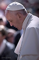 Pope Francis during of a weekly general audience at St Peter's square in Vatican. May 3, 2017