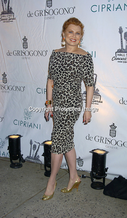 Georgette Mosbacher..at The Sheryl Crow Concert at The Cipriani Wall Street Concert on April 26, 2005 at Ciprianis on Wall Street. ..Photo by Robin Platzer, Twin Images