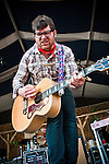 Colin Meloy of the Decemberists performing at the New Orleans Jazz and Heritage Festival in New Orleans, Louisiana, May 1, 2011.