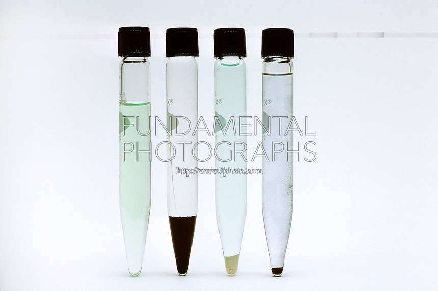 QUALITATIVE ANALYSIS FOR CATIONS<br /> Separation of Subgroup II Cations<br /> The addition of H2S(aq) in 0.3 M H3O+(aq) forms a precipitate of the sulfides of Hg2+ and Cu2+. The sulfides of subgroups III and IV are soluble in 0.3 M H3O+(aq). The remaining mixture of CuS(s) and HgS(s) is separated by a reaction with hot HNO3(aq).