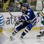 10 February 2017: University of New Hampshire Wildcat Defenseman CameronMarks, a Junior from North Vancouver, British Columbia, in second period action against the University of Vermont Catamounts at Gutterson Fieldhouse in Burlington, Vermont. The Wildcats came from behind to defeat the Catamounts 4-2 in the first game of their 2-game Hockey East Series. Mandatory Credit: Ed Wolfstein Photo *** RAW (NEF) Image File Available ***