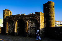 Essaouira is a city on the Moroccan Atlantic coast. Fortress walls originally enclosed the entire city.