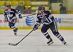 14 February 2015: University of New Hampshire Wildcat Forward Hannah Armstrong, a Senior from Keswick, Ontario, in second period action against the University of Vermont Catamounts at Gutterson Fieldhouse in Burlington, Vermont. The Ladies played to a 3-3 tie in their final meeting of the NCAA Hockey East season. Mandatory Credit: Ed Wolfstein Photo *** RAW (NEF) Image File Available ***